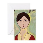 Girl's Face After Matisse Card