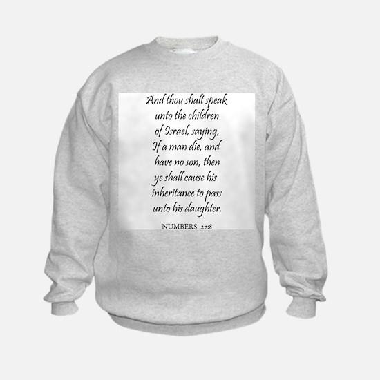NUMBERS  27:8 Sweatshirt