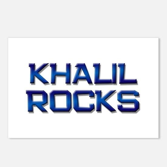 khalil rocks Postcards (Package of 8)