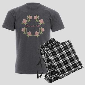 Personalized Rose Men's Charcoal Pajamas