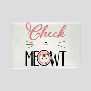 Cat - Check Meowt Rectangle Magnet