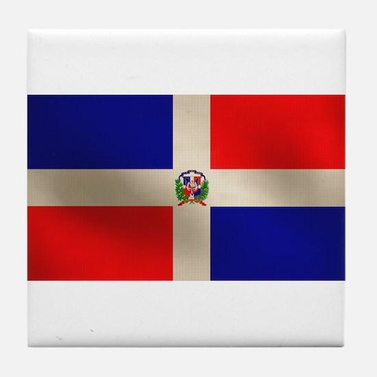 Dominican Flag Tile Coaster