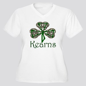 Kearns Shamrock Women's Plus Size V-Neck T-Shirt