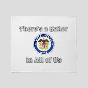 Sailor in Us Throw Blanket