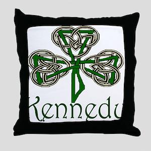 Kennedy Shamrock Throw Pillow