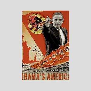 communist obama Rectangle Magnet