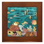Coral Reef Framed Tile