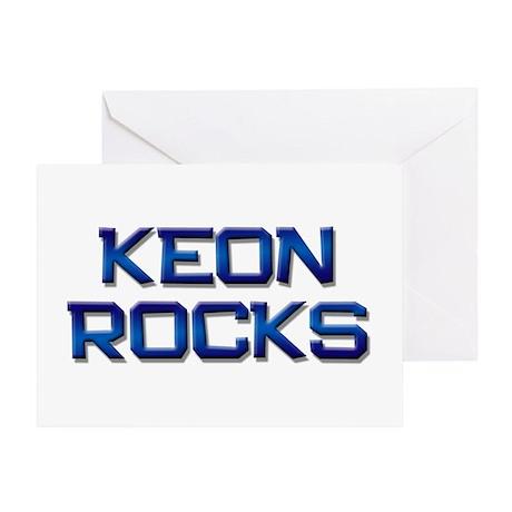keon rocks Greeting Card