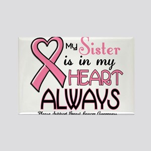 In My Heart 2 (Sister) PINK Rectangle Magnet