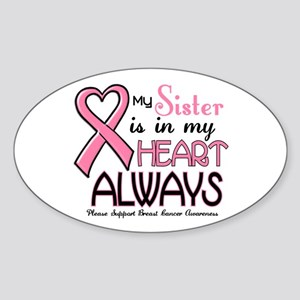 In My Heart 2 (Sister) PINK Oval Sticker