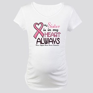 In My Heart 2 (Sister) PINK Maternity T-Shirt