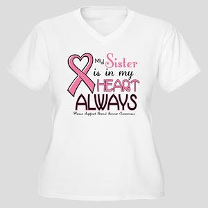 In My Heart 2 (Sister) PINK Women's Plus Size V-Ne
