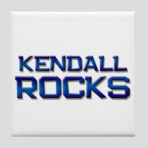 kendall rocks Tile Coaster