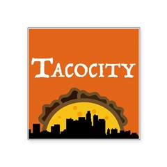 "Tacocity Square Sticker 3"" X 3"""