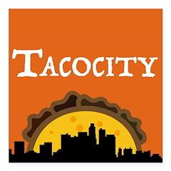 "Tacocity Square Car Magnet 3"" X 3"""