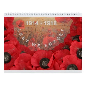 Lest We Forget - Travel Notes Wall Calendar