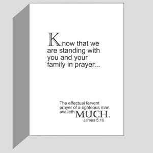 Standing With You in Prayer Greeting Card