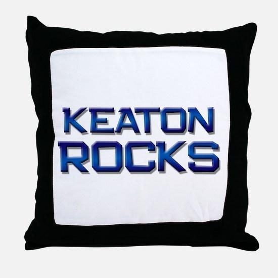 keaton rocks Throw Pillow
