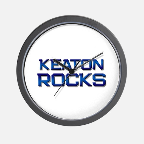 keaton rocks Wall Clock