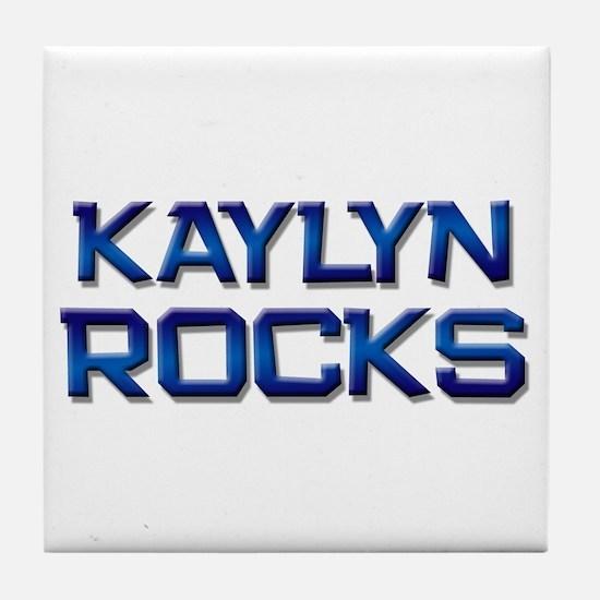 kaylyn rocks Tile Coaster