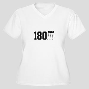 180 Darts!!! Women's Plus Size V-Neck T-Shirt