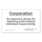 Corporation: profit without... Rectangle Sticker