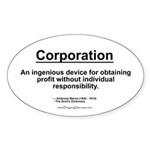 Corporation: profit without... Oval Sticker