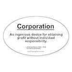 Corporation: profit without... Oval Sticker