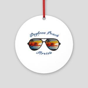 Florida - Daytona Beach Round Ornament