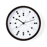 Harvey Balls Binary Wall Clock