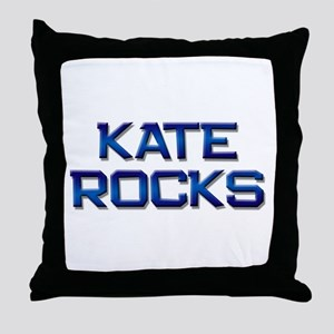 kate rocks Throw Pillow
