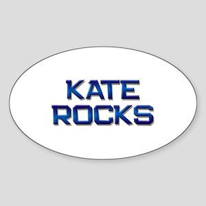 kate rocks Oval Sticker