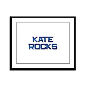 kate rocks Framed Panel Print