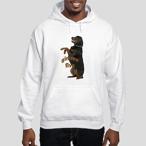 rottweiler begging Hooded Sweatshirt