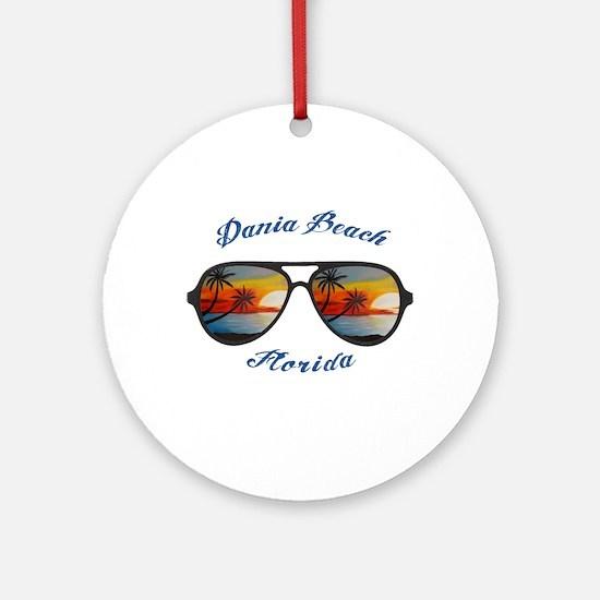 Florida - Dania Beach Round Ornament