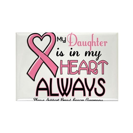 In My Heart 2 (Daughter) PINK Rectangle Magnet