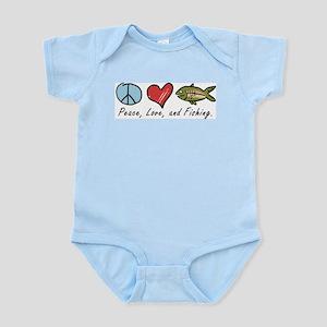 Peace, Love, Fishing Infant Bodysuit