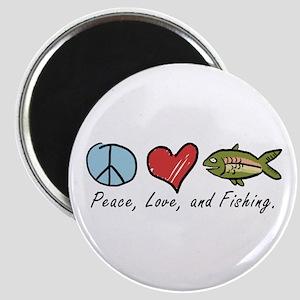 Peace, Love, Fishing Magnet