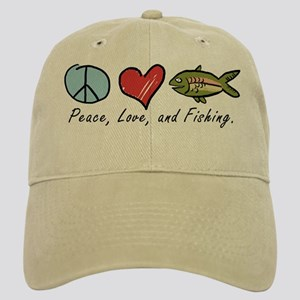 Peace, Love, Fishing Cap
