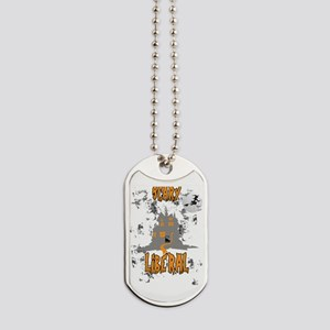 Scary Liberal Witch Funny Social Worker H Dog Tags