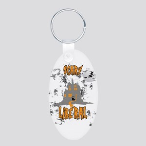 Scary Liberal Witch Funny Social Worker Keychains