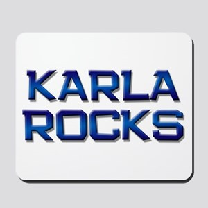 karla rocks Mousepad
