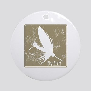 Fly Fishing Lure Ornament (Round)
