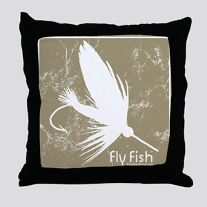Fly Fishing Lure Throw Pillow