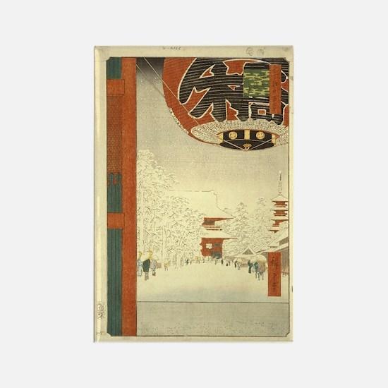 Kinryuzan Temple Asakusa Rectangle Magnet