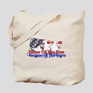Because Of The Brave Tote Bag