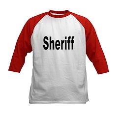 Sheriff (Front) Kids Baseball Jersey