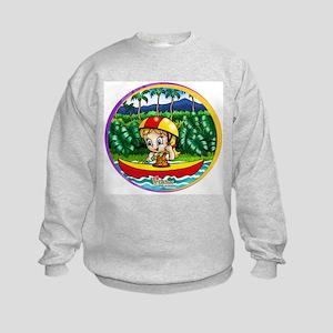 Eliza's Kayak Trip Kids Sweatshirt