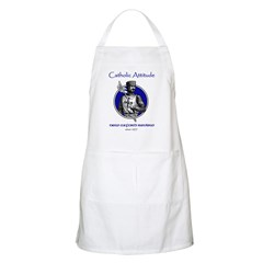 Catholic Attitude Knight BBQ Apron