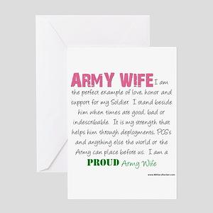 I Am...an Army Wife Greeting Card